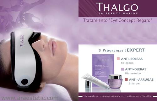 tratamiento ojos y máscara masaje, araestetic
