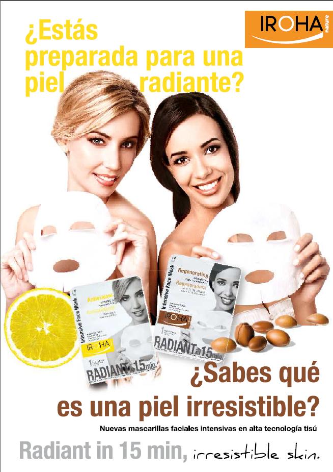 Mascarillas faciales antioxidante y rejuvenecedora