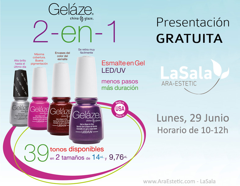 Gelaze China Glaze JUNIO 2015 LaSala de Ara-Estetic