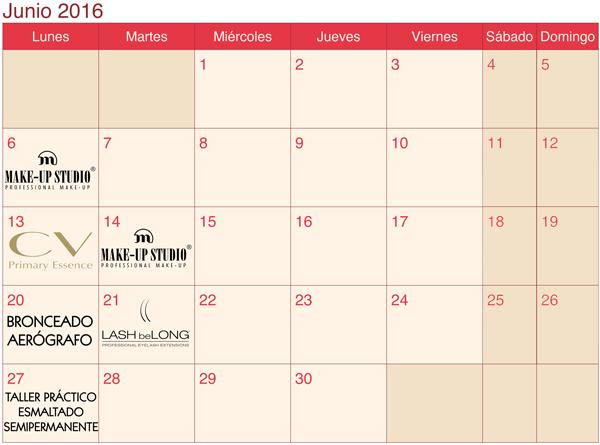 calendario formaciones LaSala AraEstetic JUNIO 2016