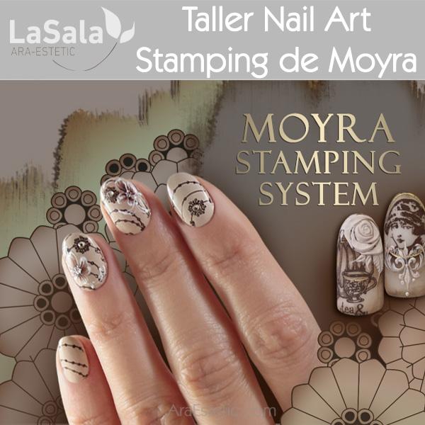 Taller Nail Art con Stamping de Moyra en LaSala de Ara-Estetic, Zaragoza