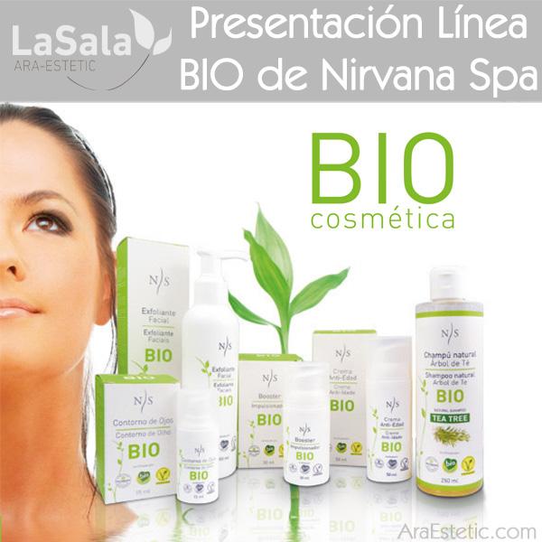Presentación línea BIO de Nirvana Spa en LaSala de Ara-Estetic, Zaragoza